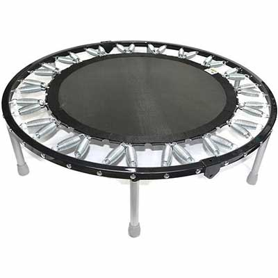 #3. Needak Soft-Bounce All-Weather Low-Impact Workout Foldable Rebounder Trampoline (Black)