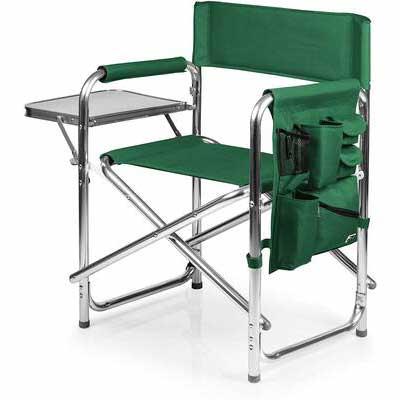 #1. ONIVA Picnic Time Brand 300lbs Weight Lightweight Portable Folding Sports Chair (Hunter Green)