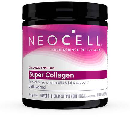 #8. Neocell Unflavored 7oz Joint Support Super Collagen Powder Type 1 & 3 with 6,600mg Gluten-free