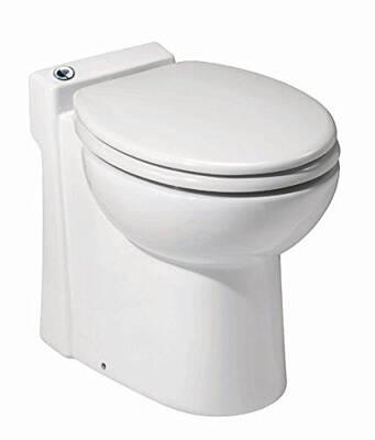 #2. Saniflo 023 Sanicompact Toilet, White