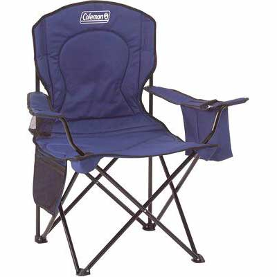 #8. Coleman Roomy 24Inch Seat cOuncey Design Portable Camping Quad Chair w/4-Can Cooler