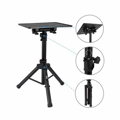 #6. Pyle PLPTS2 Universal Adjustable Laptop Projector Tripod Stand Ideal for Studio & Stage Use