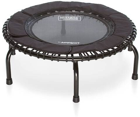 #2. JumpSport Load Capacity 250lbs Durable & Silent Safe & Stable Rebounder Mini Trampoline