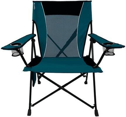 #9. Kijaro Dual Lock 300lbs Support No-Sag Breathable Mesh Portable Camping & Sports Chair