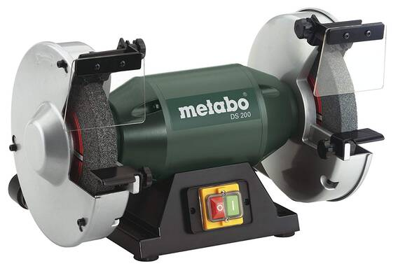 #1. METABO 8inch 3,570 RPM 4.8 Amp Sturdy Machine Robust Die-Cast Motor Simple Disc Bench Grinder