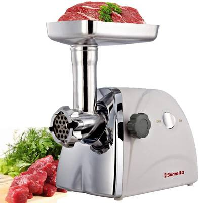 #10. Sunmile SM-G31 1HP 800W Electric Meat Grinder with Three Grinding Plates
