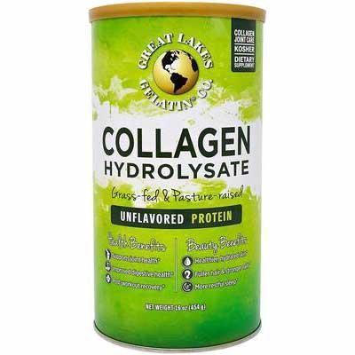 #6. Great Lakes Gelatin 16oz Unflavored Beef Protein Kosher Collagen Hydrolysate Supplement