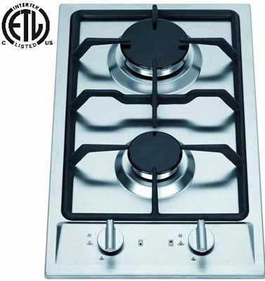 #7. Rambledwood GC2-43N Natural Gas Electric Ignition High Efficiency 2 Burner Gas Cooktop