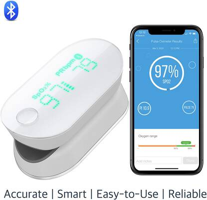 #2. iHealth Air Wireless Pulse Oximeter w/Perfusion Index & Plethysmograph on the App