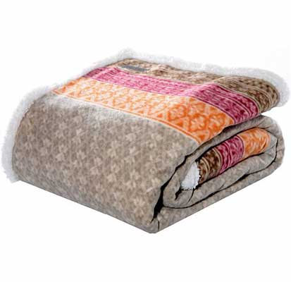 7. Eddie Bauer Fair Isle Cozy Brushed Fleece Reversible Sherpa Cover Throw Blanket for Bed & Couch