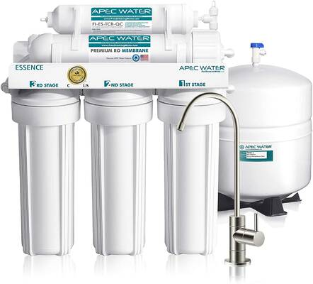 #1. APEC Water System ROES-50 5-Stage Certified Essence Series Top Tier Water Filter System