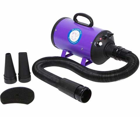 #1. Flying One High-Velocity 4.0 HP w/10 Ft Flexible Hose Dog Pet Grooming Force Dryer