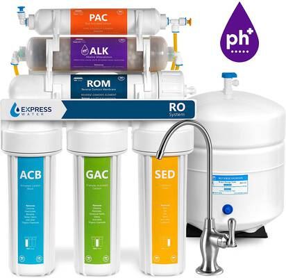 #4. Express Water 10 Stage RO 50GPD Express Water Reverse Alkaline Water Filtration System