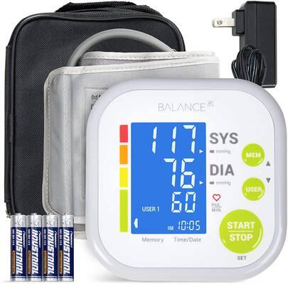 #3. Greater Goods Digital Large Display Upper Arm Cuff Blood Pressure Monitor w/Tubing