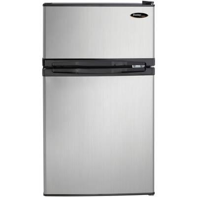 #5. Danby DCRO31B1BSLDD 3.1 cu. Ft. 87 Liters Integrated Door Shelving Compact Refrigerator (Steel)