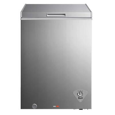 #4. Avanti CF351D2P Removable Storage Basket 3.5 cu. Ft. Thermostat Chest Freezer (Platinum Finish)