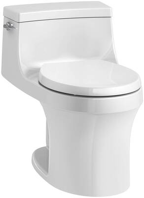 #3. KOHLER K-4007-0 Toilet, White