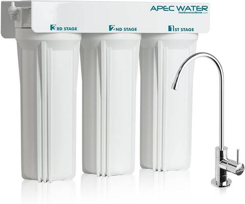 #7. APEC Super Capacity WFS-1000 Under Sink 3-Stage Premium Quality Water Filter Unit