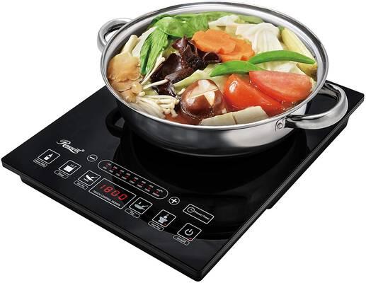 #2. Rosewill 5 Pre-Programmed1800 Watt Induction Cooker Electric Burner