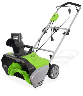 9. Greenworks 2600502 20-Inch Corded Snow Thrower - 13 Amp