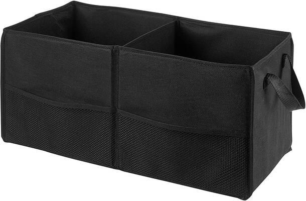 #10. Handy Laundry Non-Slip Fastener Fold Away Car Trunk Organizer for Large & Heavy Items (Black)