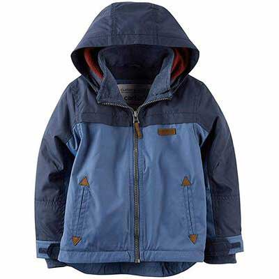 9. Carter's Soft Lining Water-Resistant Outer Layer Lightweight Little Boys' Winter Jacket