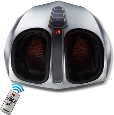 #6. Belmint Air Compression & Massage Therapy Shiatsu Foot Massager w/Heat Deep Kneading