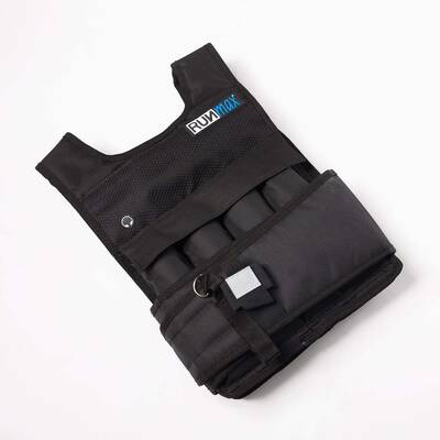 9. RUNmax Pro Durable Comfortable Even Weight Distribution Weighted Vest w/Shoulder Pads
