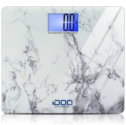 #6. IDOO 440lbs Heavy-Duty Ultra-Wide Elegant High Precision Digital Bathroom Weight Scale