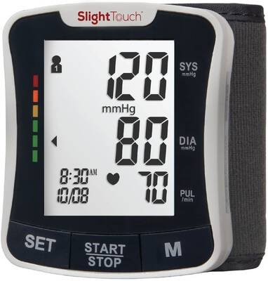 #6. Slight Touch ST-501 Fully Automatic Wrist Digital FDA-Approved Blood Pressure Monitor