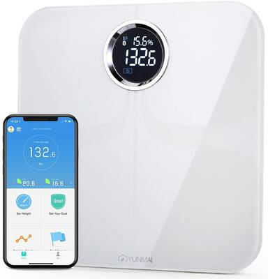 #2. YUNMAI Premium Extra-Large Display Smart Body Fat Scale & Body Composition Monitor