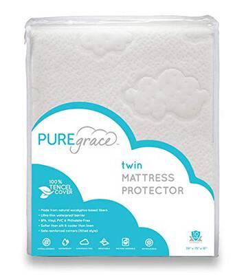 #2. PUREgrace Eucalyptus Natural Safe Tencel Breathable Noiseless Hypoallergenic Mattress Protector