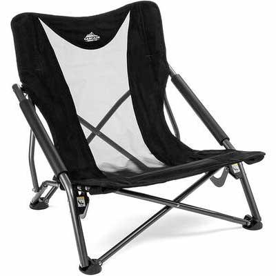 #7. Cascade Mountain Tech Low-Profile Outdoor Compact Folding Camp Chair w/Carry Case