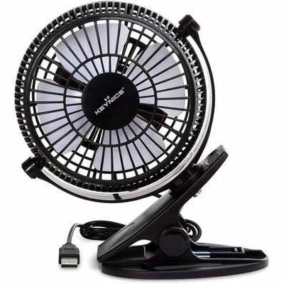 6. KEYNICE Small USB Desk Fan- Black
