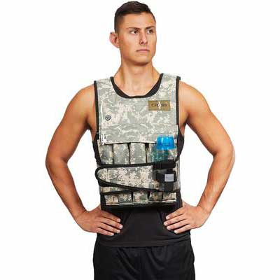 4. CROSS101 Reliable 20lbs – 80lbs One-Size-Fit-Most Shoulder Pad Option Weighted Vest