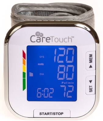 #2. Care Touch Automatic Wrist Platinum Series Blood Pressure Machine w/Memory Function