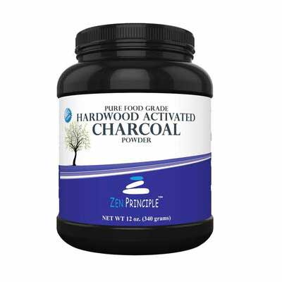 4. Zen Charcoal Free Scoop 12 Oz All Natural Whitens Teeth Hardwood Trees Teeth Whitening Powder