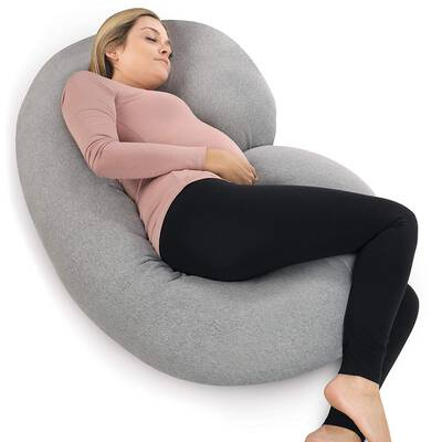 #3. PharMeDoc Pregnancy Pillow With Jersey Cover