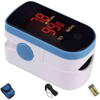 #10. CHOICEMMED Portable O2 Saturation Monitor Sky Blue Finger Pulse Oximeter
