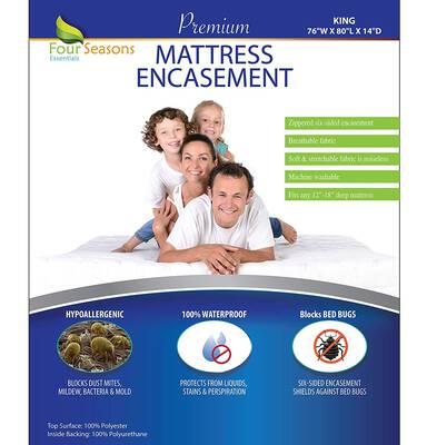 #1. Four Seasons Zippered Hypoallergenic Bedbug Waterproof Essential King Mattress Protector