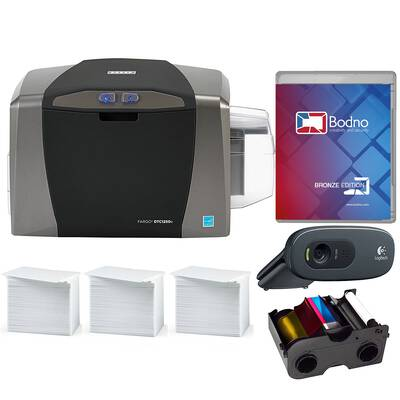 #5. Fargo DTC1250e Complete Package ID card Printer