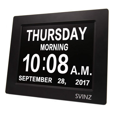 #5. SVINZ Alarms Dementia Digital Wall Clock