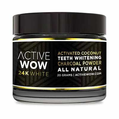 2. Active Wow Paraben-Free Organic Ingredients Organic Coconut Charcoal Teeth Whitening Powder
