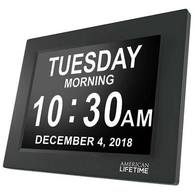 #6. American Lifetime Day Digital Wall Clock