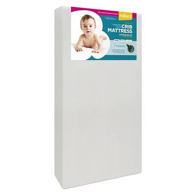 #4. Milliard Premium Memory Foam Hypoallergenic Infant Crib Mattress w/Waterproof Bamboo Cover