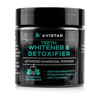 7. Avistar 2 Oz Natural Teeth Fresh Breath & Healthy Gums Activated Charcoal Whitening Powder