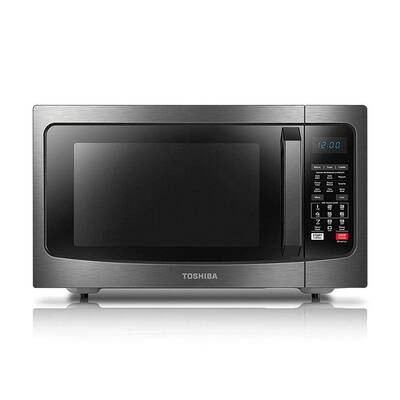 #2. Toshiba EC042A5C-BS Smart Sensor & LED Lighting 1.5cu. Ft. Microwave Oven (Black Stainless)