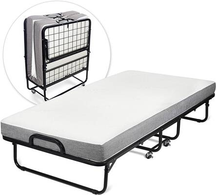 #4. Milliard Diplomat Twin Size with Luxurious Memory Foam Mattress & Strong Sturdy Folding Bed