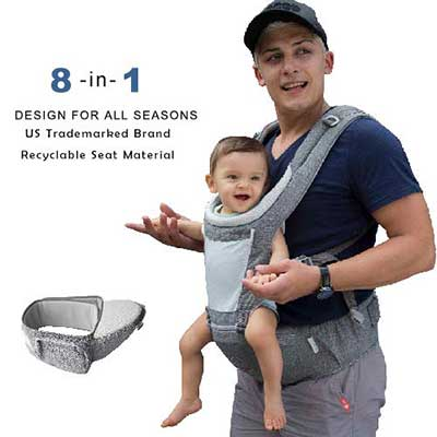 6. DaDa Hip Seat 360 Ergonomic all seasons Baby Carrier