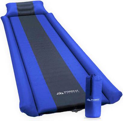 5. IFORREST Sleeping Pad with an Armrest and Pillow